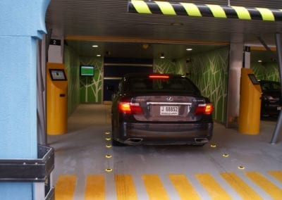 Entering the Robotic Parking System.