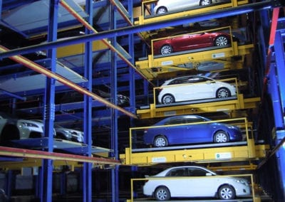 Up to 32 cars can be in motion at any one time in the 765 space garage in Dubai.