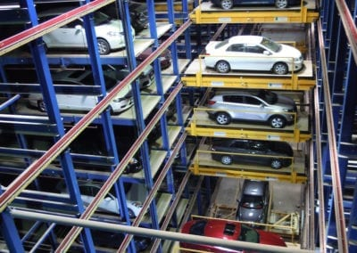 Inside the Robotic Parking System.
